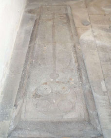 """Flat Tombstone, Church of Edward King and Martyr, Corfe Castle"""