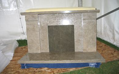 "Honed ""Cap"" Fireplace"