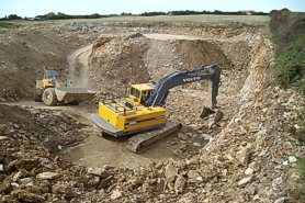 """Quarrying Purbeck Stone"" - Click for a bigger picture!"