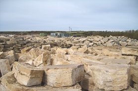 """Purbeck stone block in the quarry"" - Click for a bigger picture!"